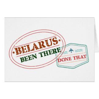 Tarjeta Bielorrusia allí hecho eso