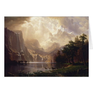 Tarjeta Bierstadt entre las montañas de Sierra Nevada