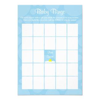 Tarjeta Bingo de la fiesta de bienvenida al bebé - tema
