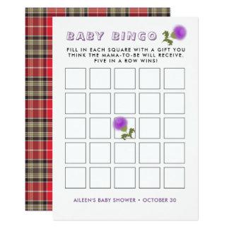 Tarjeta Bingo escocés de la fiesta de bienvenida al bebé
