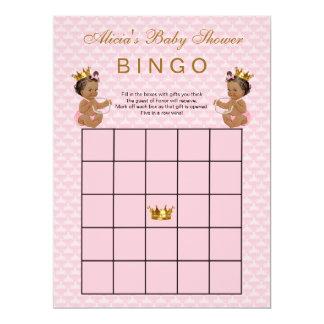 Tarjeta Bingo étnico de la princesa fiesta de bienvenida