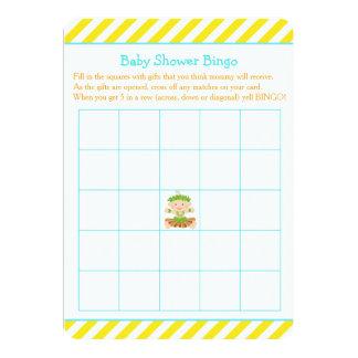 Tarjeta Bingo tropical de la fiesta de bienvenida al bebé