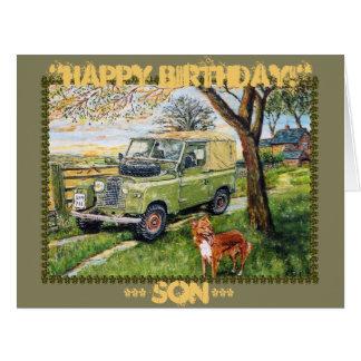 """Tarjeta ~Birthday de la """"GRANJA """" para el hijo"""