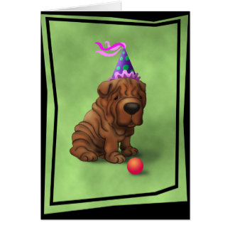 Tarjeta BirthdaySharpeiA