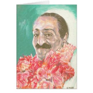 Tarjeta Bizcocho borracho de Meher con las flores