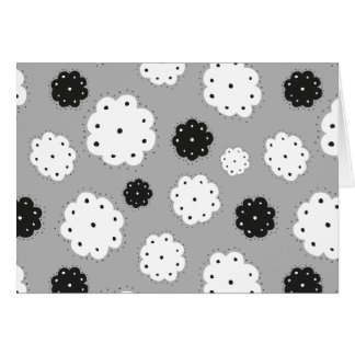 Tarjeta black and FLOWIE white pattern postcard