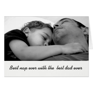 Tarjeta Black and white father's day photo greeting card.