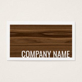 Tarjeta blanca de la frontera del diseño de madera