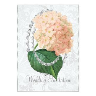 Tarjeta blanca de la invitación del boda del