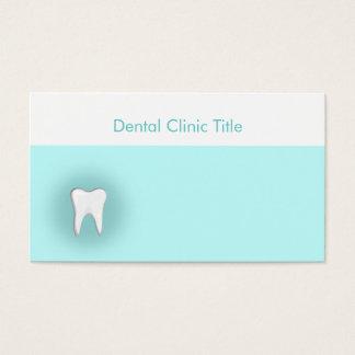 Tarjeta blanca del azul de los dientes de la
