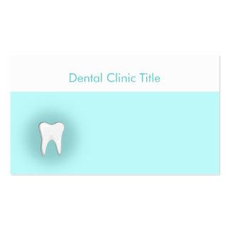 Tarjeta blanca del azul de los dientes de la tarjetas de visita