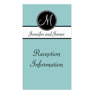 Tarjeta blanca del recinto de la recepción del mon tarjetas de visita