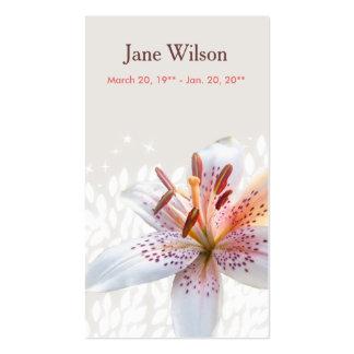 Tarjeta blanca elegante del rezo del nombre del tarjetas de visita