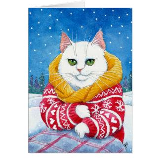 Tarjeta blanca linda del navidad o del invierno
