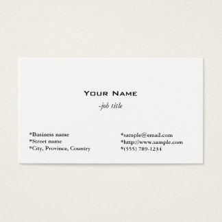 tarjeta blanca llana, simple y fresca del perfil