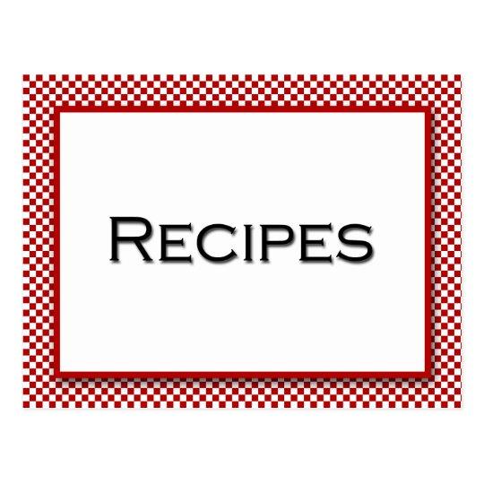 Tarjeta blanca roja de la receta del control de la