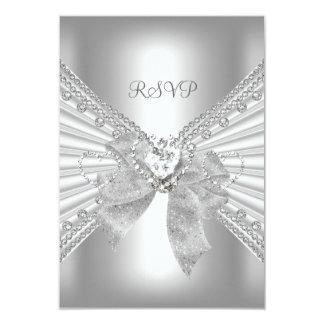 Tarjeta Blanco elegante de la plata del oro del