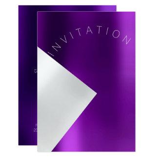 Tarjeta Blanco púrpura del metal del acontecimiento de la