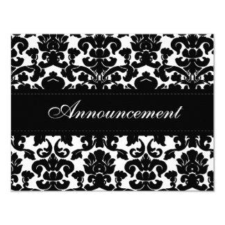 Tarjeta blanco y negro de la cancelación del boda invitación 10,8 x 13,9 cm