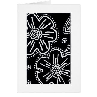 Tarjeta blanco y negro de la flor