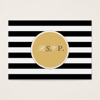 Tarjeta blanco y negro del rsvp