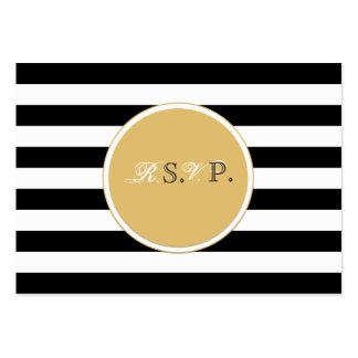 Tarjeta blanco y negro del rsvp tarjetas de visita grandes