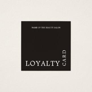 Tarjeta blanco y negro moderna de la lealtad de la