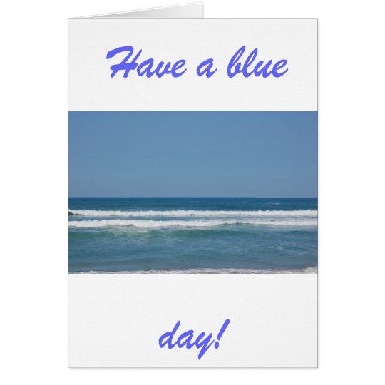 Tarjeta Blue Sea & Sky