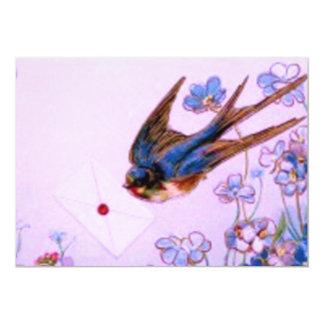 Tarjeta Bluebird con la nota