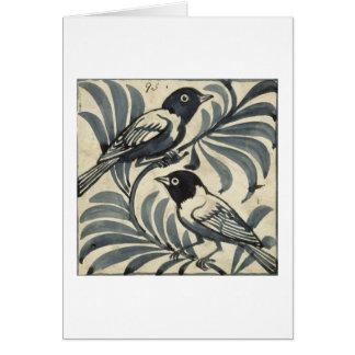 Tarjeta Bluebirds (w/c en el papel)
