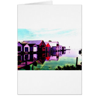 Tarjeta Boathouses del serbal del puerto