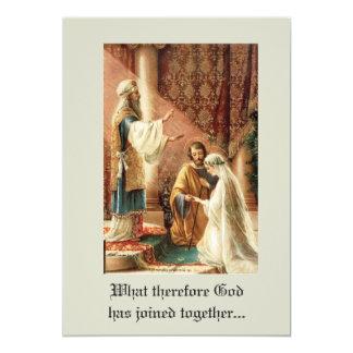 Tarjeta Boda católico tradicional de Maria José