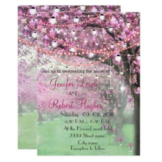 Tarjeta Boda de la flor de cerezo