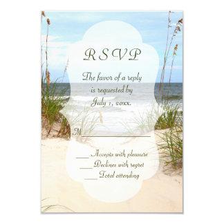 Tarjeta Boda de playa RSVP
