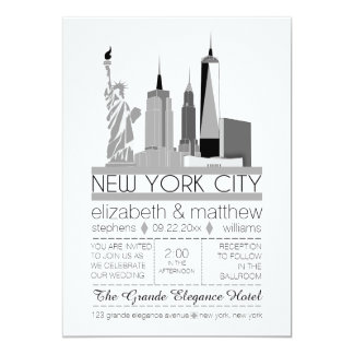 Tarjeta Boda del horizonte de New York City