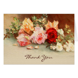 Tarjeta Boda del vintage, flores de los rosas de la