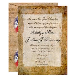 Tarjeta Boda elegante 1776 de la Declaración de