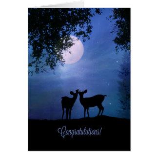 Tarjeta Boda lindo de la enhorabuena animal de la fauna de