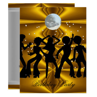 Tarjeta Bola de discoteca de la fiesta de cumpleaños de la