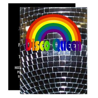 Tarjeta Bola de discoteca retra del fiesta 70s del baile