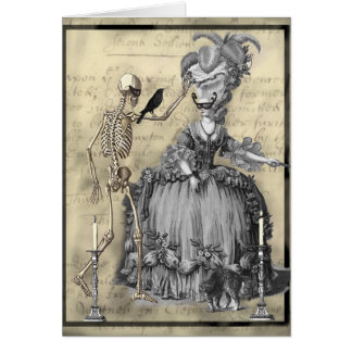 Tarjeta Bola de mascarada de Halloween