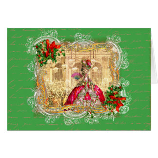 Tarjeta Bola del navidad de Marie Antonieta