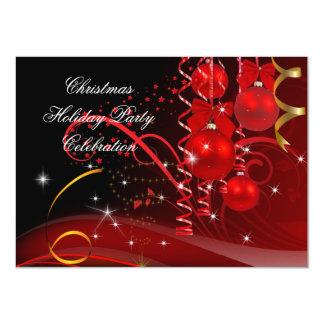 Tarjeta Bolas negras rojas del oro de la celebración de