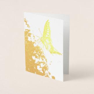tarjeta bonita del efecto metalizado de oro de la