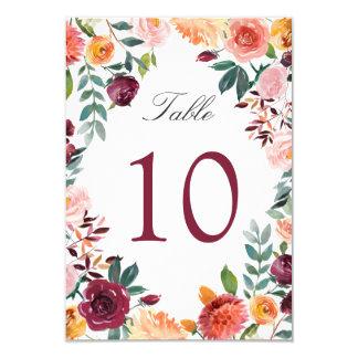 Tarjeta Borgoña se ruboriza las flores rosadas que casan