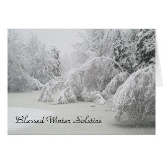 Tarjeta Bosque bendecido del invierno del solsticio de