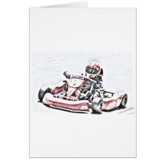Tarjeta Bosquejo sombreado corredor de Kart