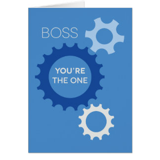 Tarjeta Boss usted es el - feliz cumpleaños