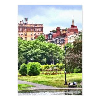 Tarjeta Boston mA - Relajación en el jardín público de