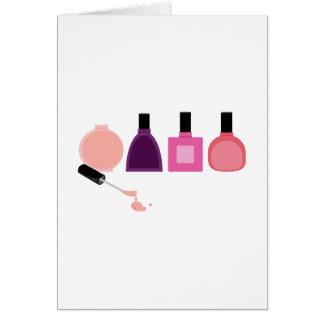 Tarjeta Botellas del esmalte de uñas